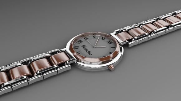 blender realistic watch