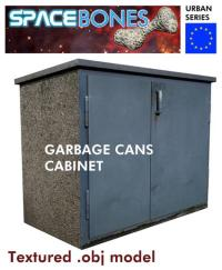 Garbage Cans Cabinet