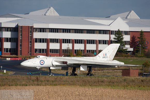 Avro Vulcan XM603 painted in the anti-radiation white finish
