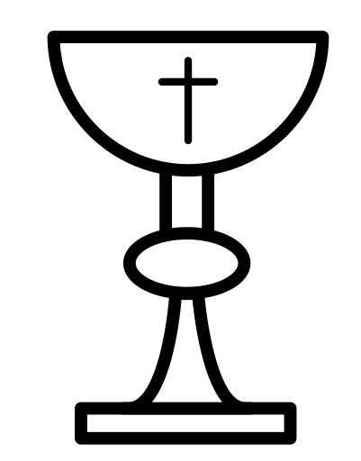 communion, chalice, Catholic, christian, church icon