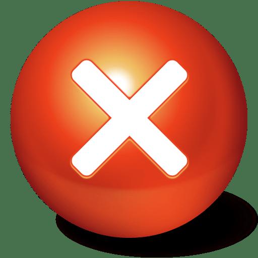 Close Ball Stop Cute No Cancel Icon