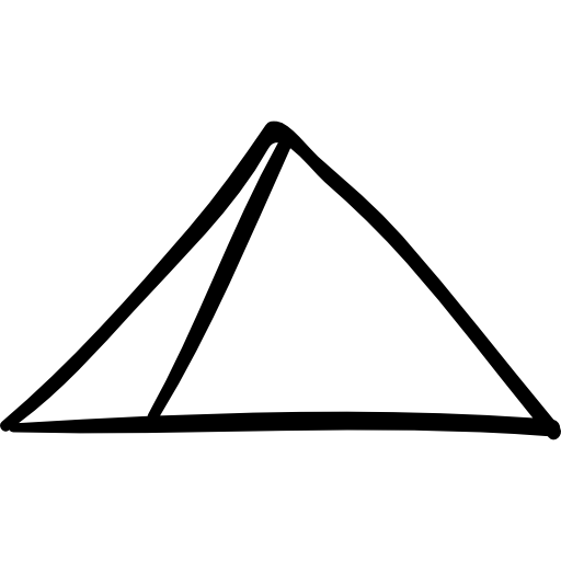Tent, shape, Outlined, Building, pyramid, hand drawn