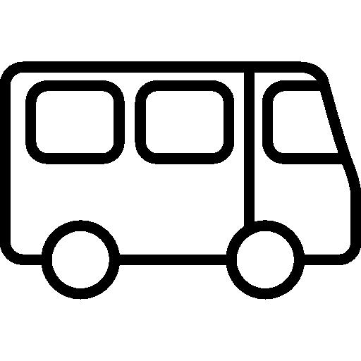 transportation, Outlined, outline, Bus, transport icon