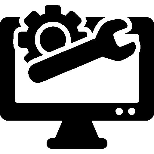 Wrench Computer Screen Cogwheel Gear Repair
