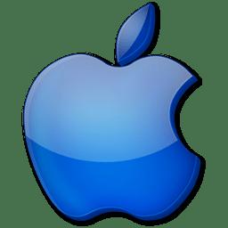 logo blue apple icon