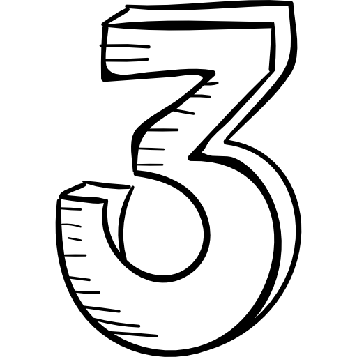 counting, three, Countdown, shapes, count, numbers icon