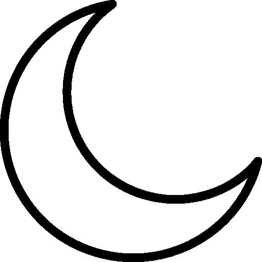 Half Moon, night, Moon, sleep, Moon Phase, nature icon