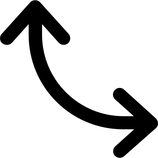 Curve Arrow Double Arrow Arrows Icon