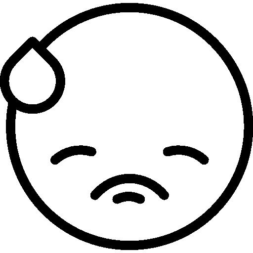 Embarrassed, emoticons, Emoji, feelings, Smileys icon