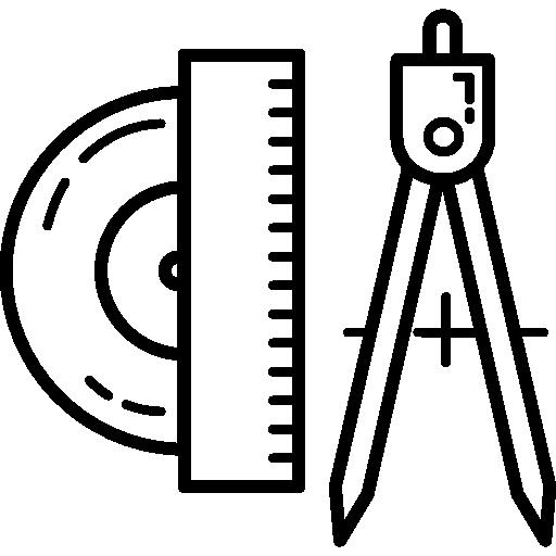 miscellaneous, compass, geometry, Protractor icon