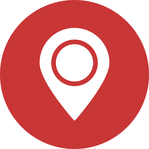 red Map marker navigation Gps location Direction icon