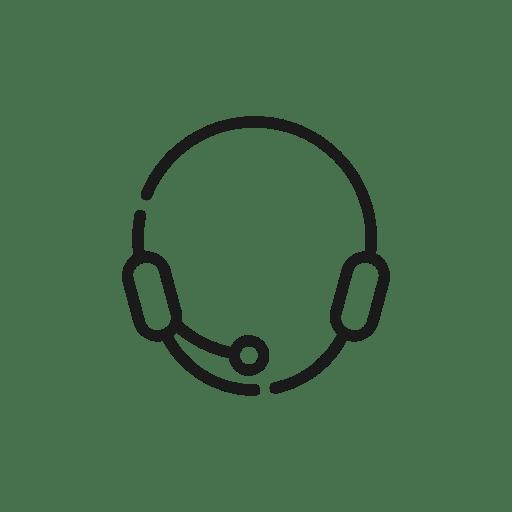 Headset, ecommerce, customer service icon