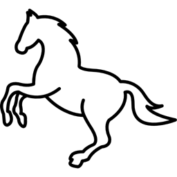 jump, outline, Animals, White, Outlined, jumping, horses