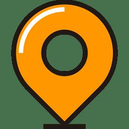 travel Destination ubication location pin icon