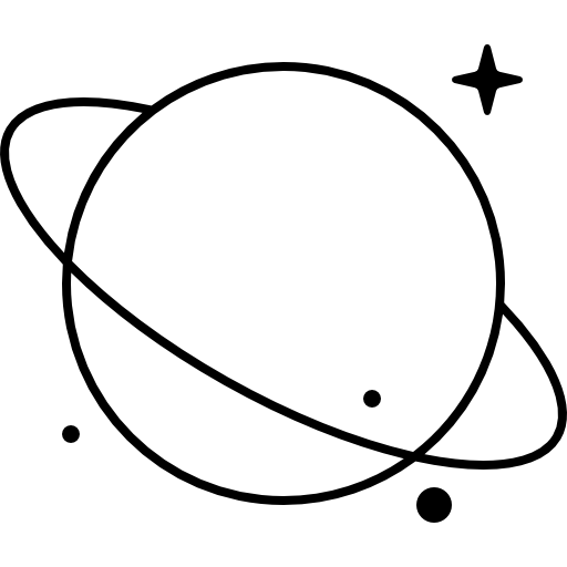 Astronomy, science, solar system, planet, saturn icon