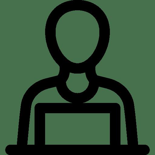 worker people Laptop employee Computer icon