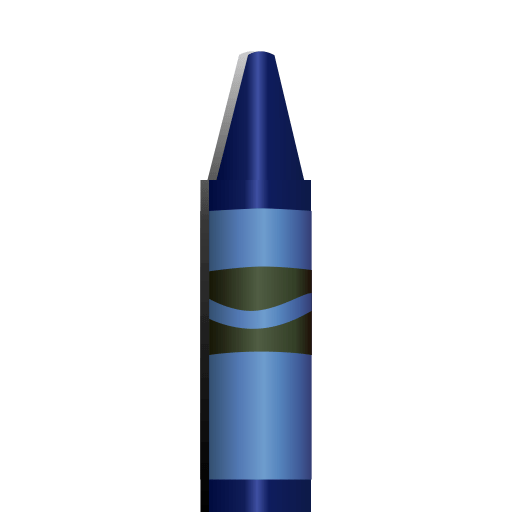 Cute Background Wallpaper For Computer Blue Crayon Icon
