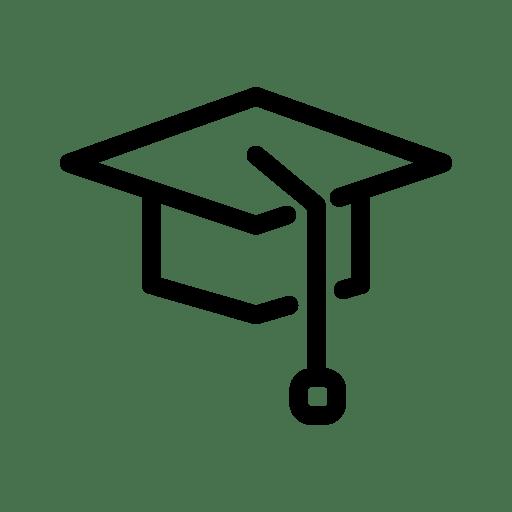 graduation, hat, school, learn, education, study icon