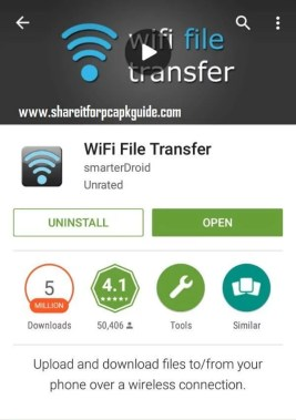 wifi file transfer for pc