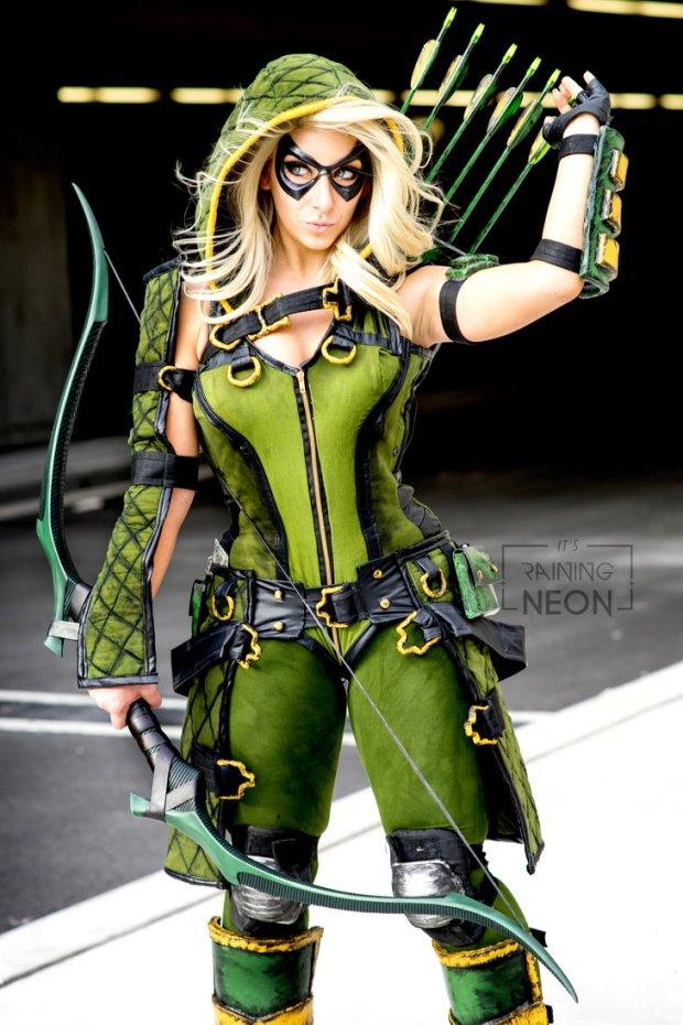 Green Arrow Its Raining Neon