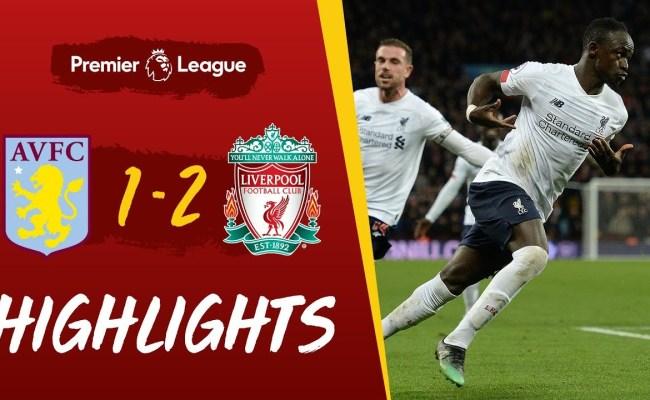 Aston Villa 1 2 Liverpool Injury Time Mane Header Wins