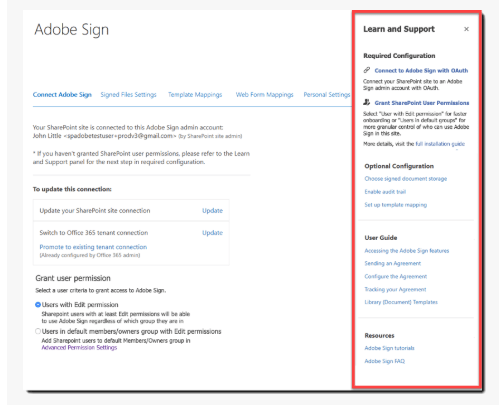 adobe sign office 365