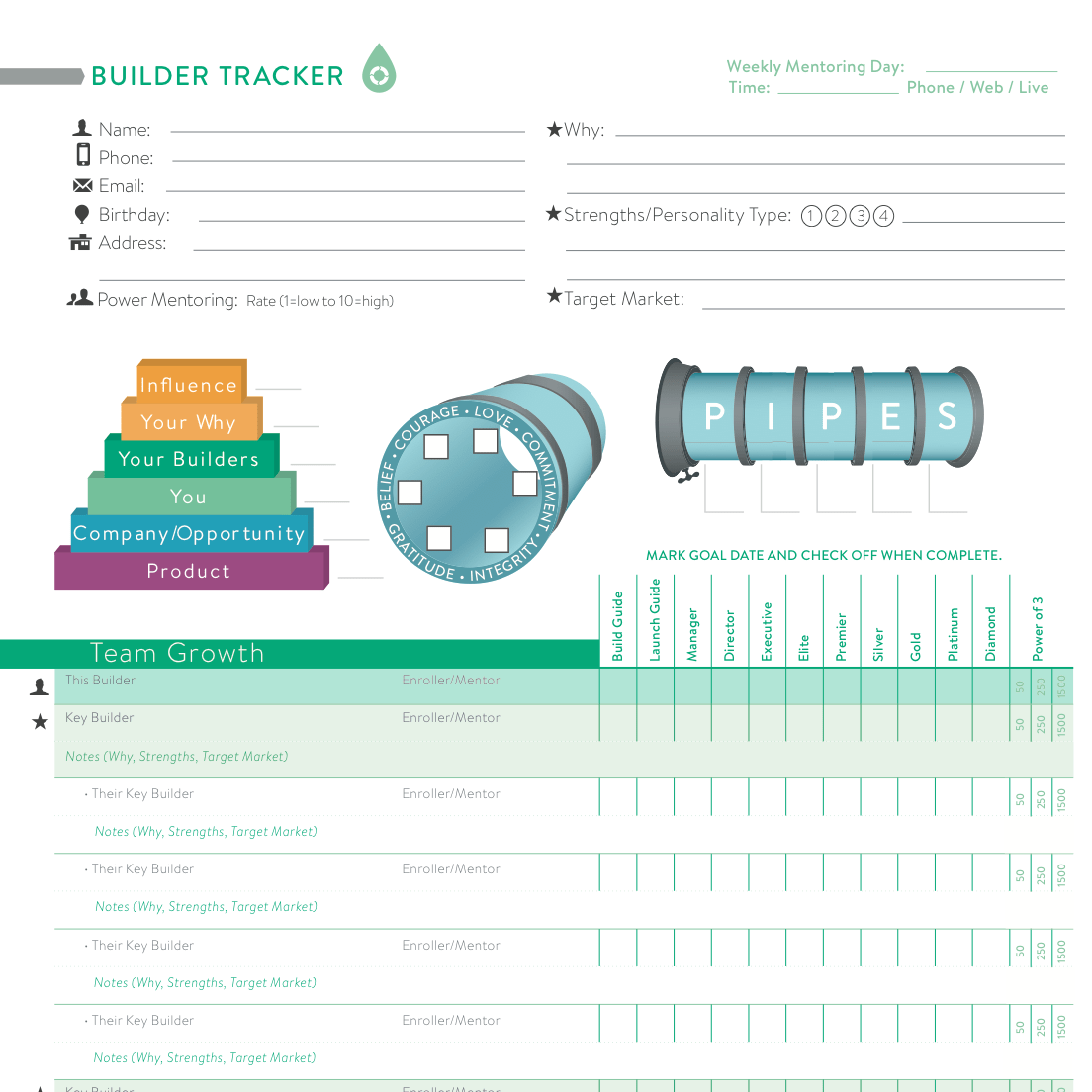 33 Doterra Silver Builder Worksheet