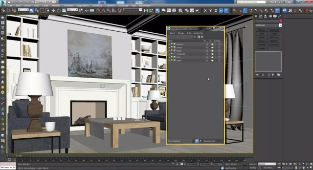 3ds max layer system