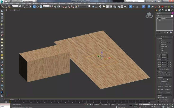 3ds Max How to apply the texture and determine size 10 1024x640 - blog - Texture placement, texture mapping, 3ds max texture placement