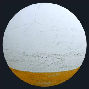 wall cracked mat - wall, decorative - white, orange, cracked wall