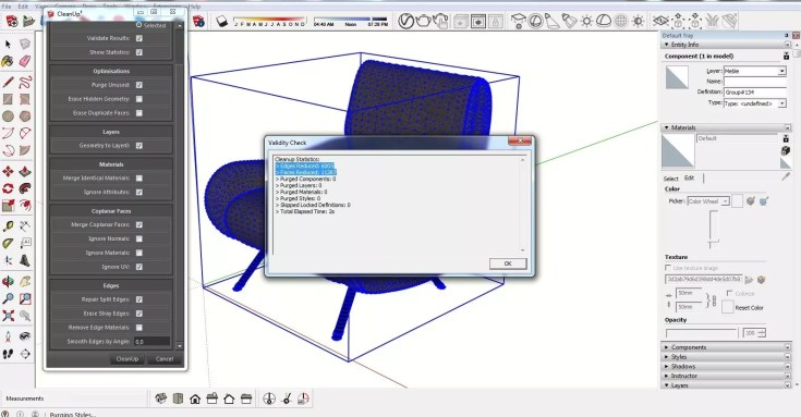 Sketchup Optimization of ready models CleanUp 07 1024x534 - blog - sketchup textures, pbr textures, free pbr textures, cleanup plugin