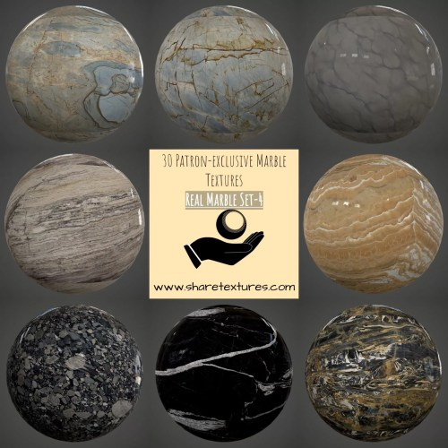 Marble Texture Set, PBR Marbles textures