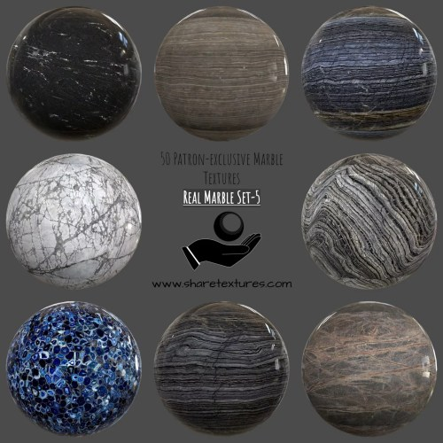 Real Marble Textures 5 - patron-only, marble, floor - pbr textures, pbr kaplama, mermer kaplaması, mermer, marble textures, marble
