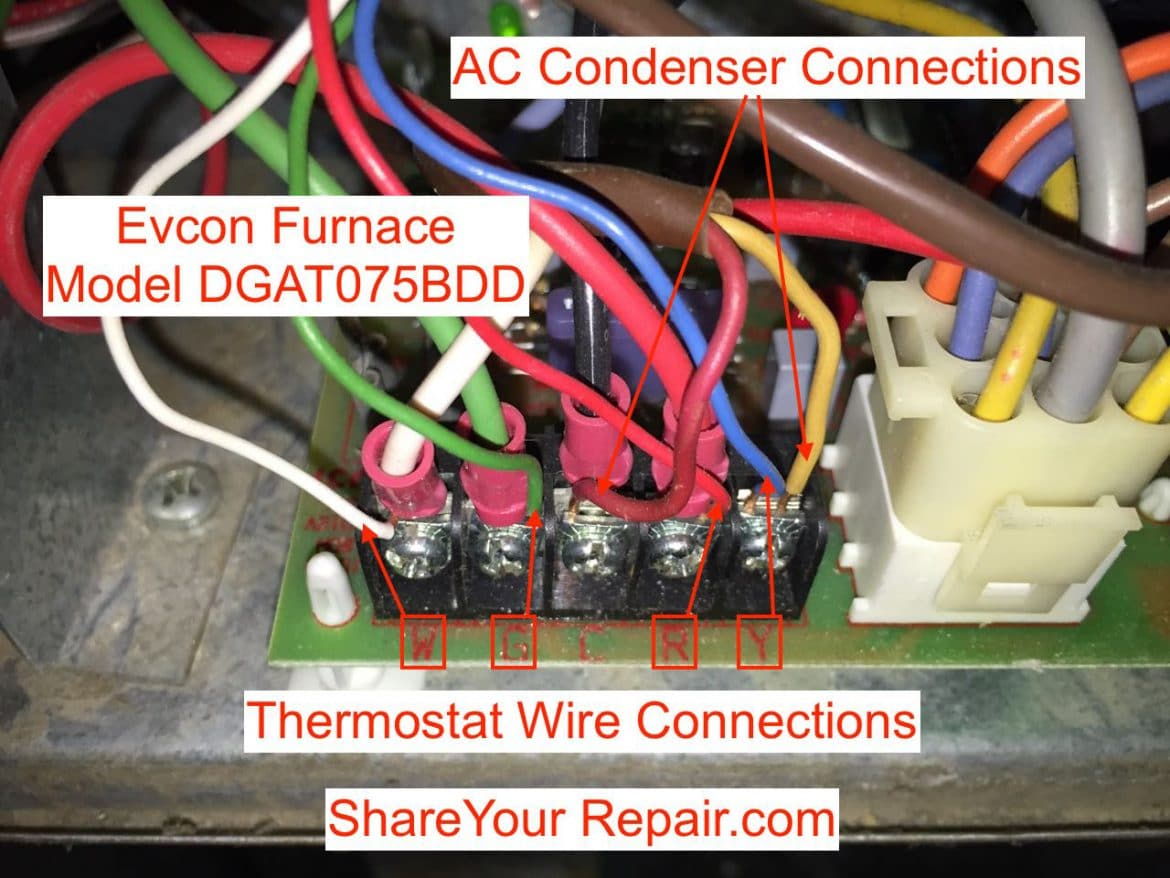 Forced Air Furnace Wiring Diagram Thermostat Wiring Troubleshooting Share Your Repair