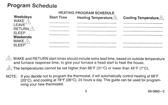 How To Program A Honeywell Thermostat Model T8112d1021