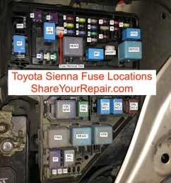 toyota sienna fuse locations [ 1170 x 878 Pixel ]