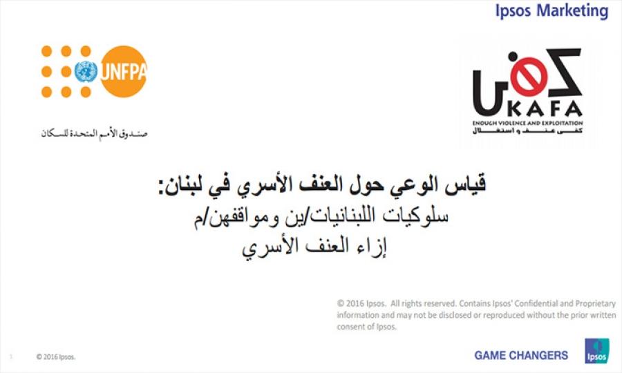 التقرير الوطني الأول حول درجة وعي اللبنانيين/ات حول العنف الأسري