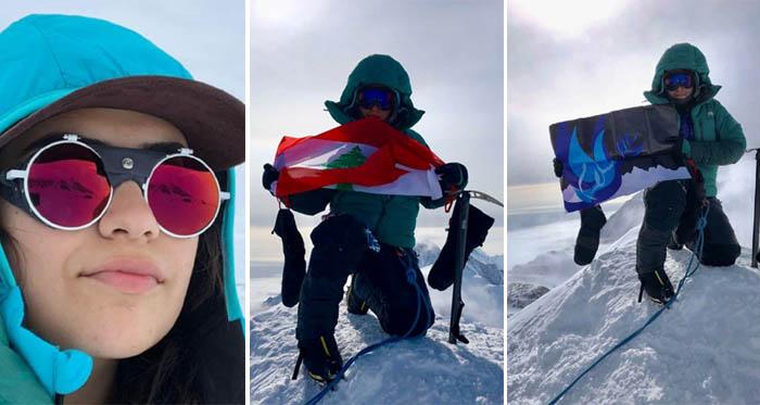 اللبنانية روان دقيق على قمة في أنتاركتيكا (4892 م)… وتحضر للتحدي السادس!!!