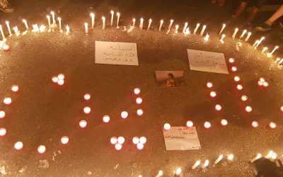 في الذكرى الأربعين على رحيل نادين جوني إضاءة شموع في وسط بيروت