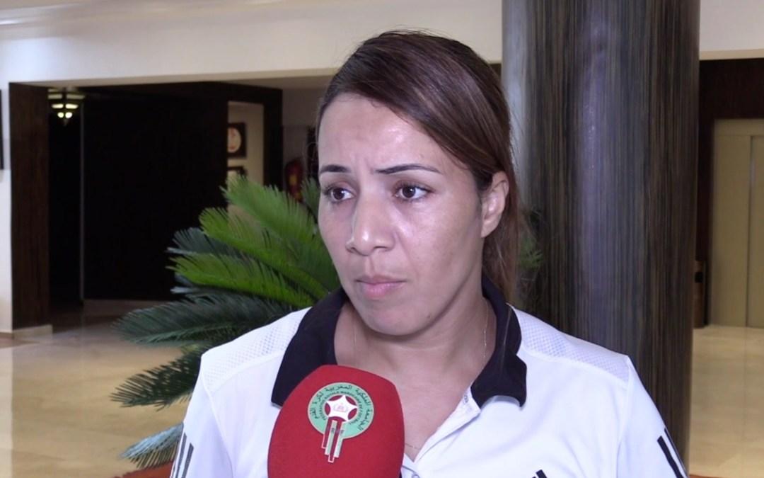 اختيار الحكمة المغربية فتيحة جرموني لتحكيم مباريات كأس أمم افريقيا