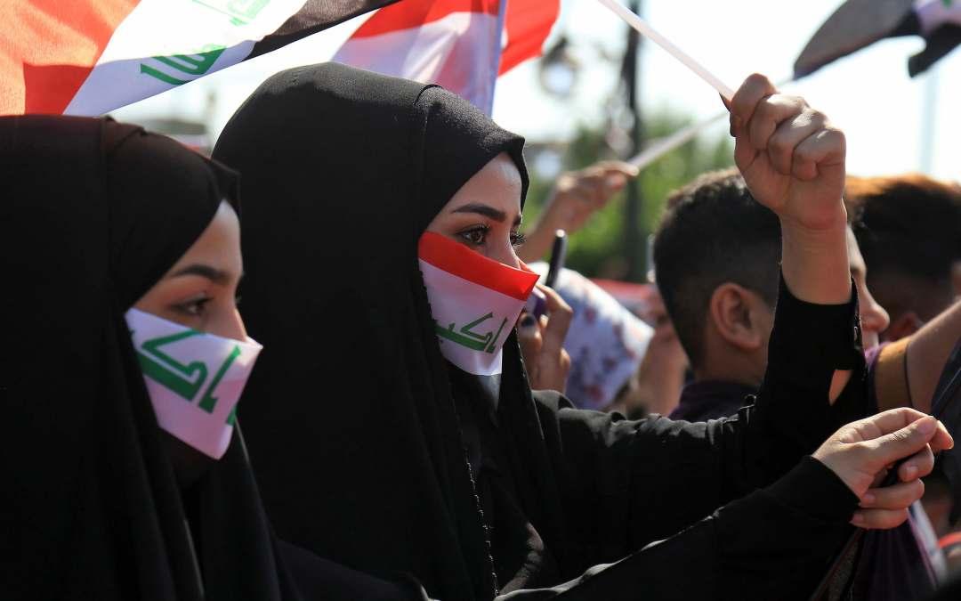 ارتقاء أوّل شهيدة خلال إسعافها الجرحى في تظاهرات العراق