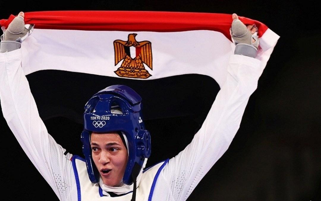 اللاعبة المصرية هداية ملاك تخطف أوّل برونزية لبلادها في أولمبياد طوكيو 2020