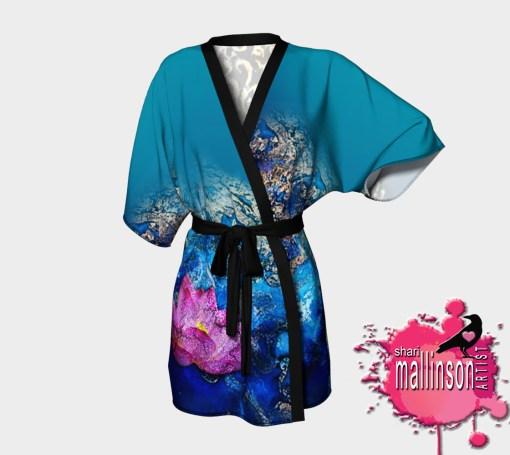 Water Ganesh Draped Kimono (Front View)
