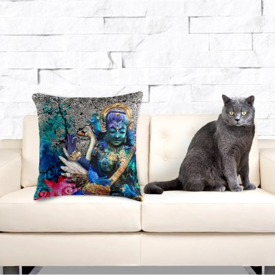 Water Saraswati, Throw Pillow
