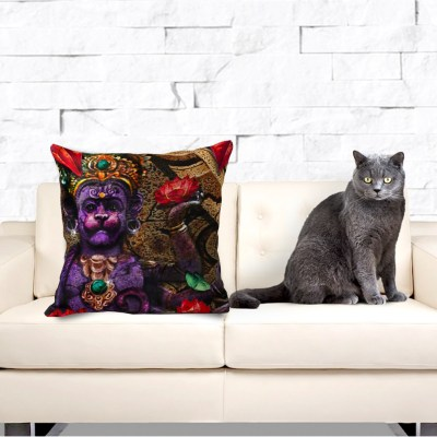 Fire Hanuman, Throw Pillow