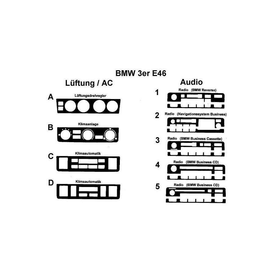 BMW 3 Series / E46 RHD Compact 04.98 DASH TRIM 19 Parts