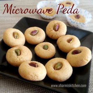 Easy Microwave Peda | Indian Milk Fudge Recipe – Diwali Sweet