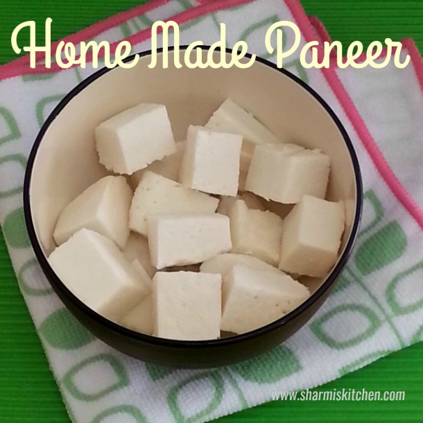 Home Made Paneer | Indian Cheese Recipe