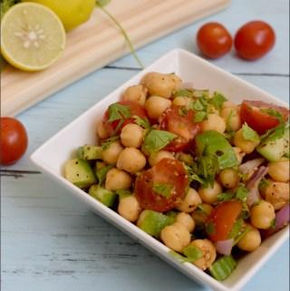 Chickpea Salad Recipe | Indian Chickpea Salad