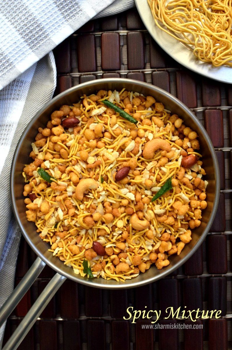 Spicy Mixture Recipe | South Indian Madras Mixture